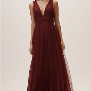BHLDN burgundy bridesmaid dress